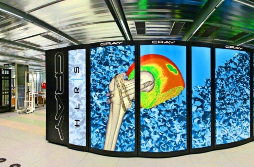 Für das Höchstleistungsrechenzentrum Stuttgart hatte der US-Hersteller bei den neuesten Computern  etwas Farbe übrig. Foto: Boris Lehner/HLRS