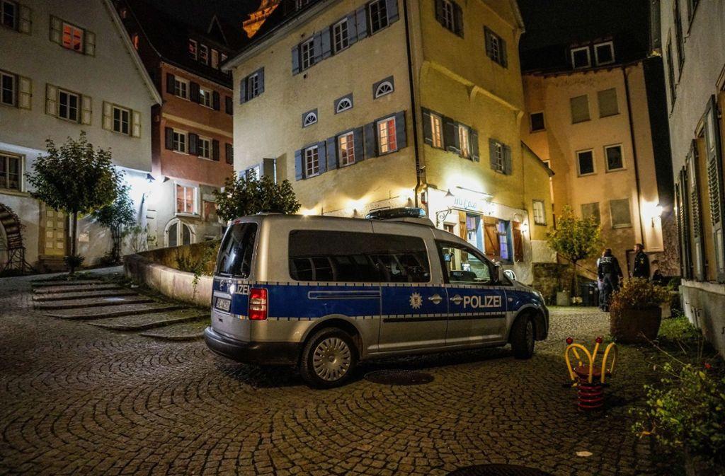 Am Abend des 6. November kam es zum Polizeieinsatz in der Nürtinger Altstadt. Foto: SDMG/Kohls