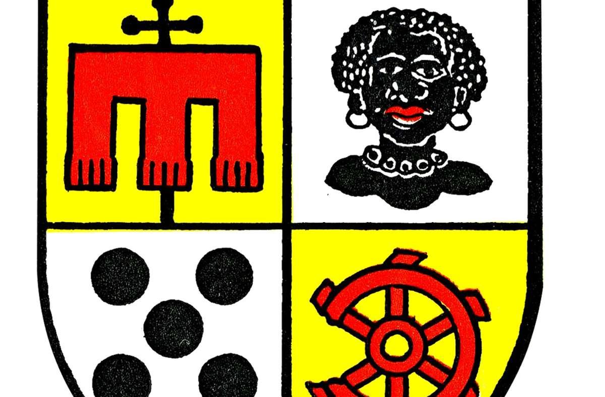 Offenbar stören sich zahlreiche Menschen an der Darstellung der afrikanischen Frau im Möhringer Wappen. Foto: Ulrich Gohl