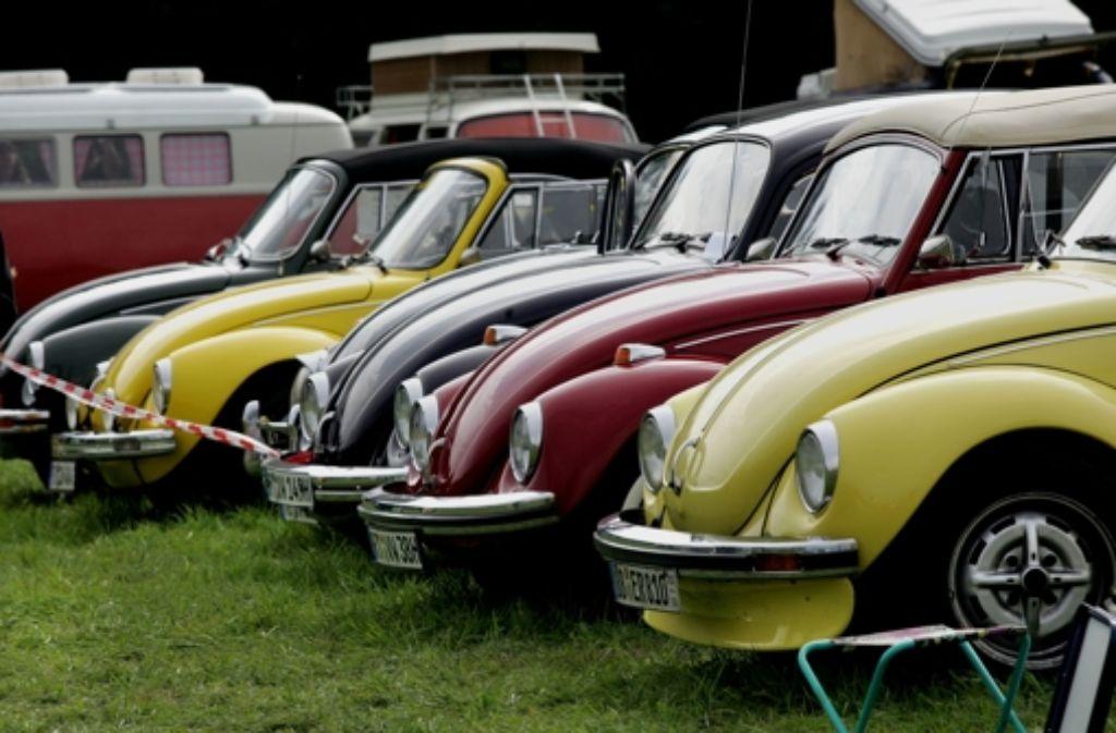 Nur weil sie immer noch fahren, können die Käfer am Wochenende in Lenglingen wieder mal stehen und bewundert werden. Foto: Horst Rudel
