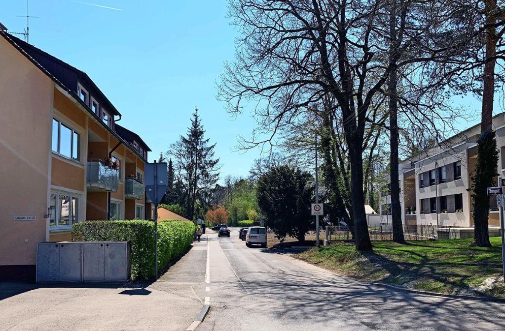 Die Thingstraße auf der Rohrer Höhe: Rechts stehen die Neubauten der SWSG, die Anwohner am linken Straßenrand müssen Erschließungskosten zahlen. Foto: Götz Schultheiss