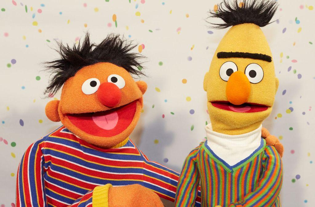 Eine große Liebe: Bert (rechts) und Ernie Foto: dpa