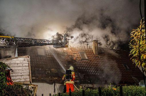 Dachstuhl von Wohnhaus ausgebrannt