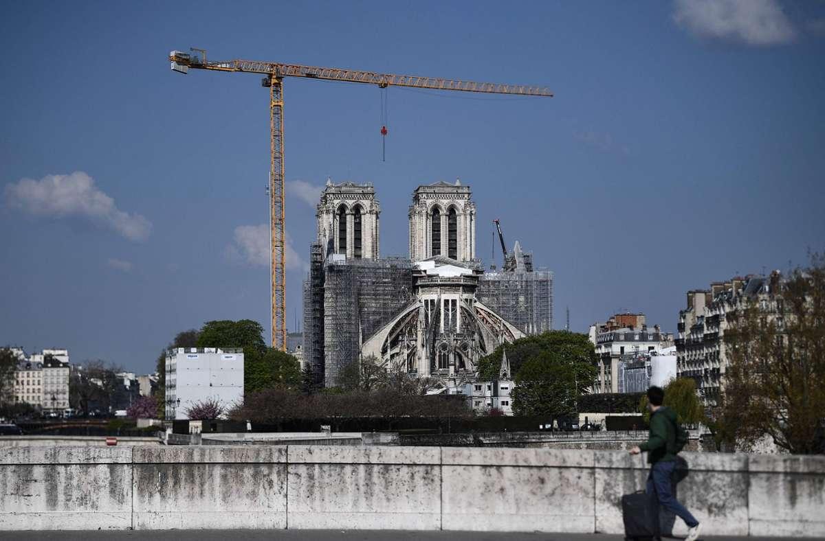 Baustelle: die Kathedrale Notre-Dame in Paris Foto: AFP/Anne-Christine Poujoulat