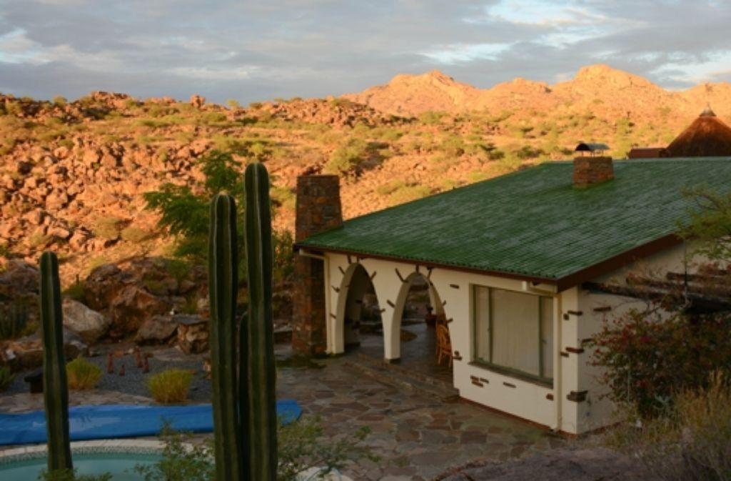 Martin Herzogs Anwesen in Namibia Foto: Michael Schnurr