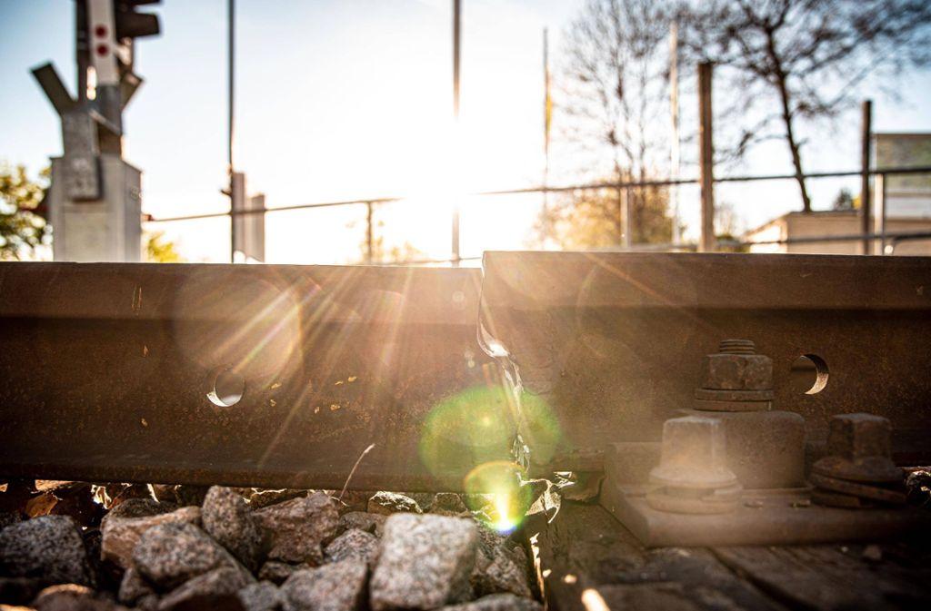 Ein Schienenbruch auf der Schönbuchbahn sorgt für Einschränkungen. Foto: Marc Gruber/Marc Gruber