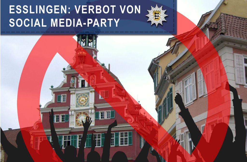 Die Stadt Esslingen will Polizeieinsätzen vorbeugen und hat eine Party verboten. Foto: Polizeipräsidium Reutlingen