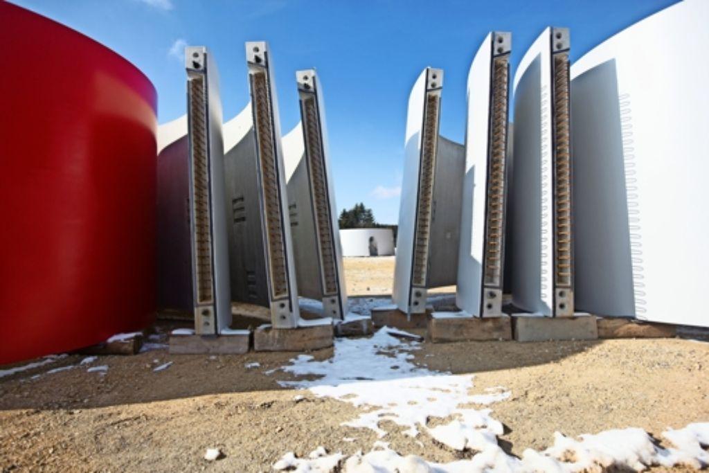 Bei Lauterstein laufen seit einem halben Jahr die Bauarbeiten für den größten, aber nicht höchsten  Windpark des Landes. Foto: Horst Rudel