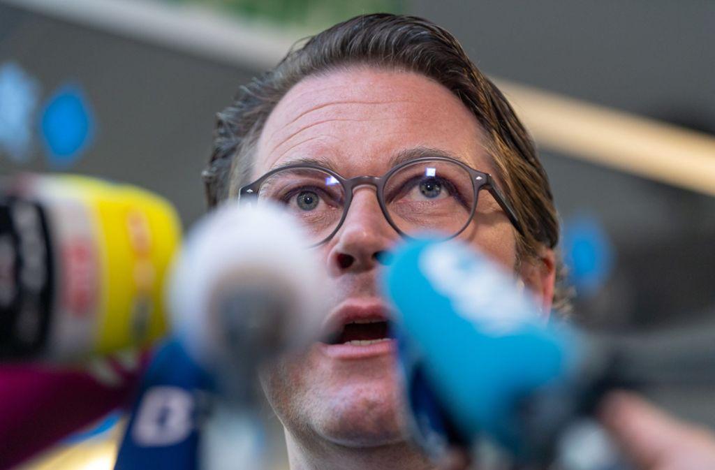 """Andreas Scheuer (CSU) bezeichnet die Sperrung von Tiroler Landstraßen als """"zutiefst diskriminierend"""". Foto: dpa"""