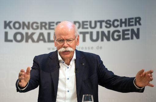 Dieter Zetsche hält Fahrverbote in Innenstädten für kaum praktikabel