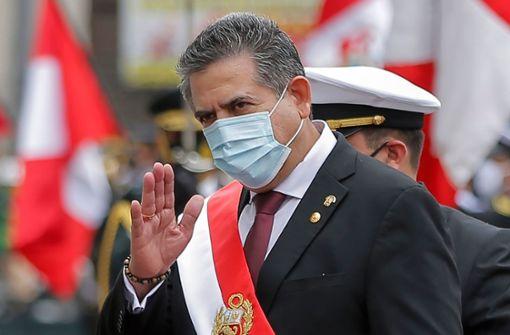 Perus Übergangspräsident tritt nach Protesten zurück