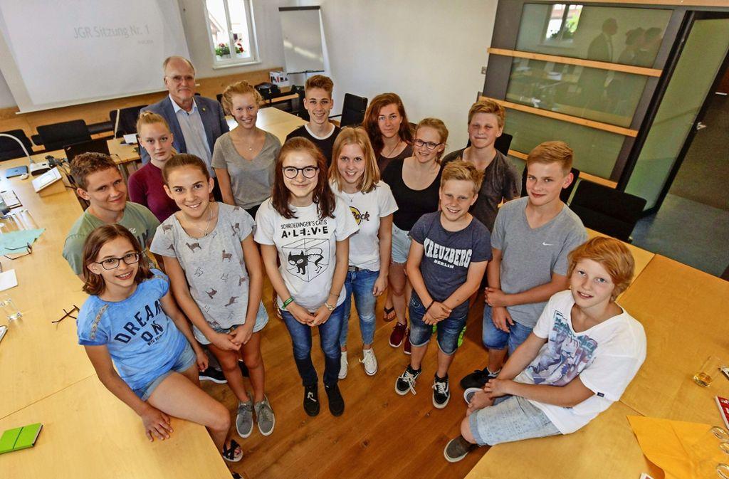Wie der Gemeinderat trifft sich auch das Jugendgremium der Stadt regelmäßig im Sitzungssaal des Rathauses. Foto: factum/Bach