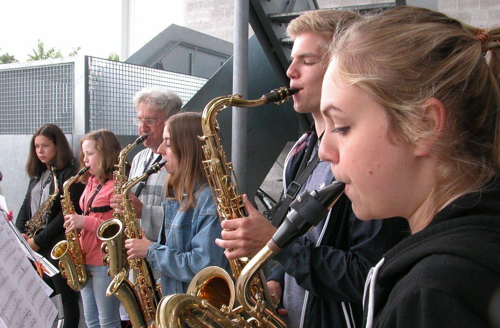 Beim Fest der Kunstschule tritt auch die Band Saxissimo auf. Foto: z