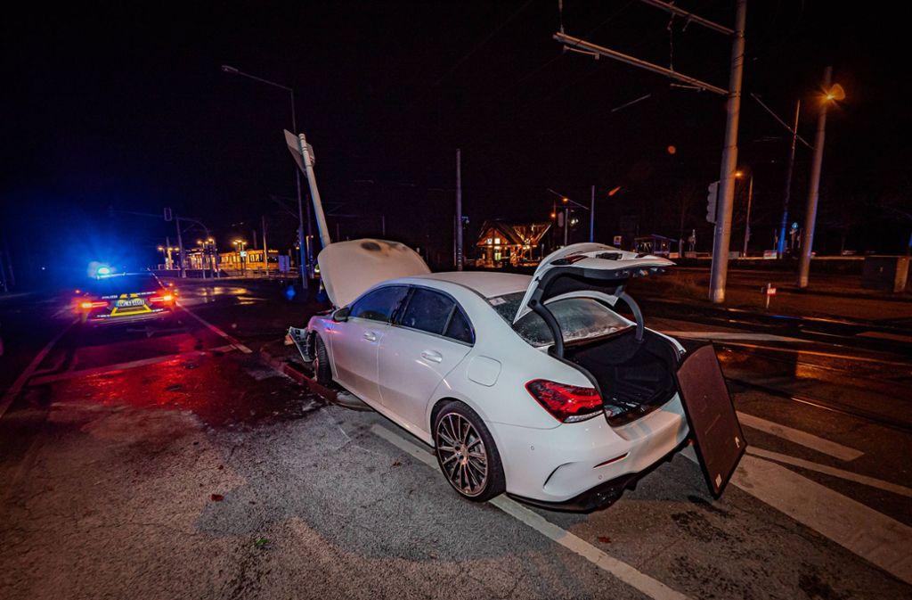 Kurz nach der Mittleren Filderstraße war der Fahrer ... Foto: 7aktuell.de/Alexander Hald