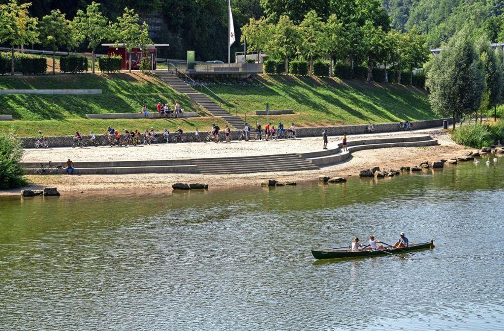Ein kleines, aber feines Plätzchen für Urlaubsgefühle: der Neckarstrand bei Remseck Foto: factum/Weise