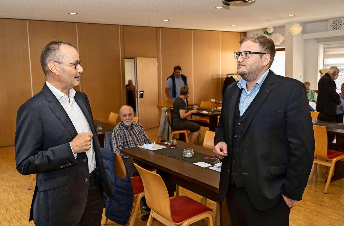 Hans Dieter Scheerer kandidiert,  Daniel Schmidt ist Zweitkandidat. Foto: factum/Jürgen Bach