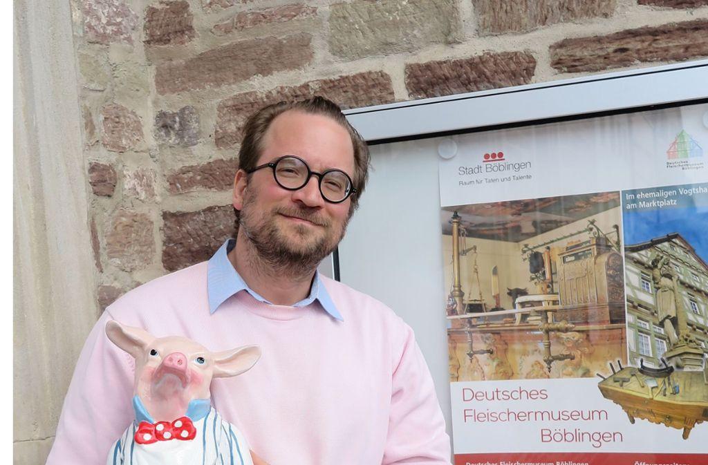 Seit 2017 leitet der Germanist und Kunsthistoriker Christian Baudisch das Böblinger Fleischermuseum. Foto: Stadt Böblingen