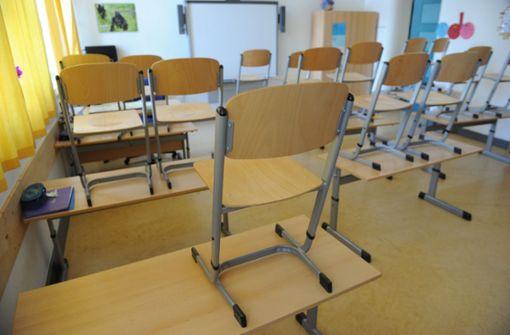 Grundschüler fangen Schlange in Klassenzimmer