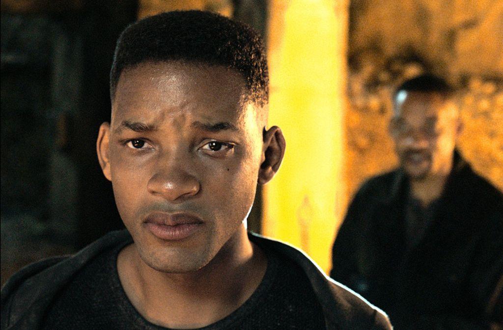 """Ihn gibt es zweimal:   Henry Brogan (Will Smith)  und sein jüngerer Klon in """"Gemini Man"""" Foto: Paramount Pictures"""