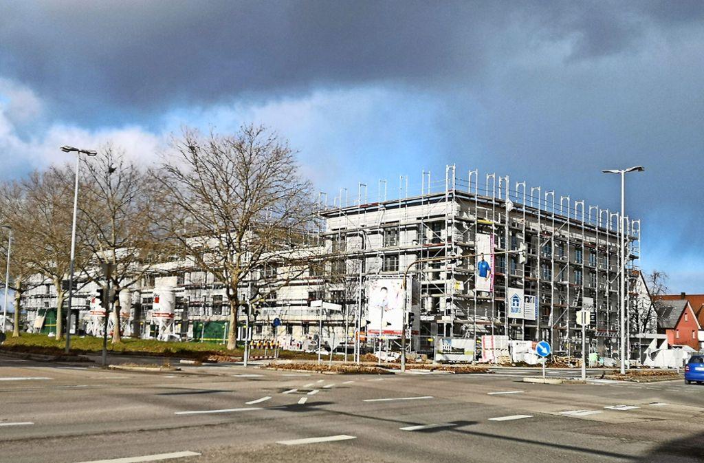 """In dem an der Siemensstraße entstehenden Neubau """"Wohnen für alle"""" soll Quartiersarbeit  ein """"Wir-Gefühl"""" erzeugen. Foto: Patricia Sigerist"""