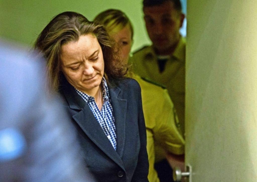 Beate Zschäpe sagt, sie habe kein Vertrauen mehr zur Verteidigerin Anja Sturm. Foto: dpa