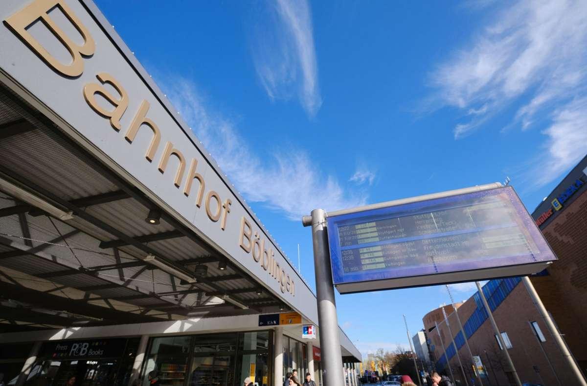 Ausgebremst? Der Bahnhof Böblingen Foto: Eibner-Pressefoto/Thomas Dinges