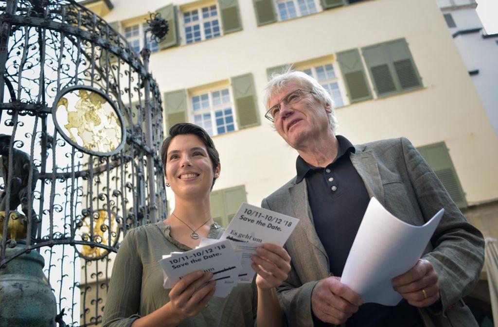 Kämpfen für die Menschenrechte: Tanja Breitenbücher und Michael Kienzle von der Stiftung Geißstraße. Foto: Lichtgut/Max Kovalenko