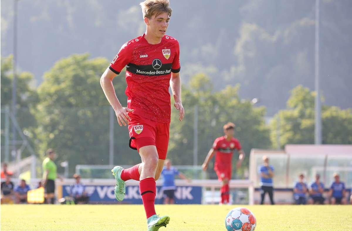 Bei den VfB-Profis konnte sich Luca Mack nicht durchsetzen. Foto: Baumann/Keppler