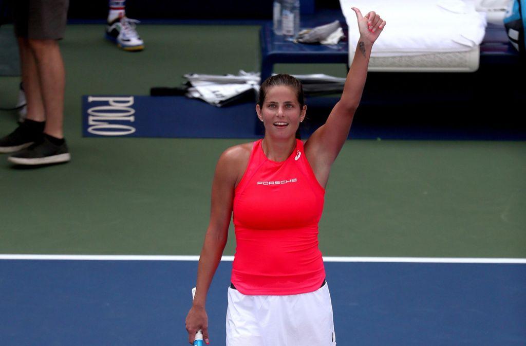 Julia Görges erreichte bei den  US Open das Achtelfinale. Foto: AFP