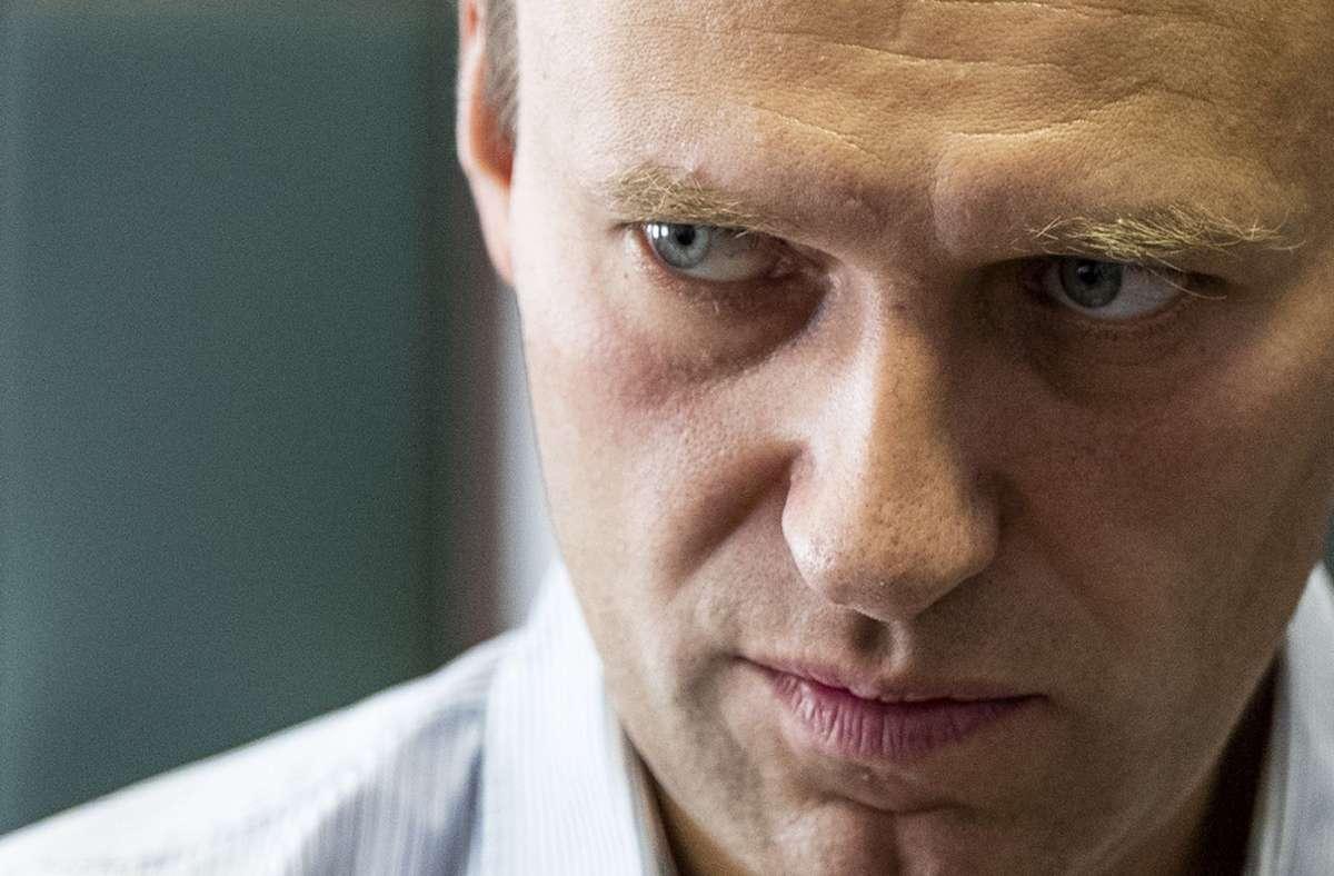Alexej Nawalny wurde  mit einem Nervengift aus der Nowitschok-Gruppe vergiftet. (Archivbild) Foto: dpa/Pavel Golovkin