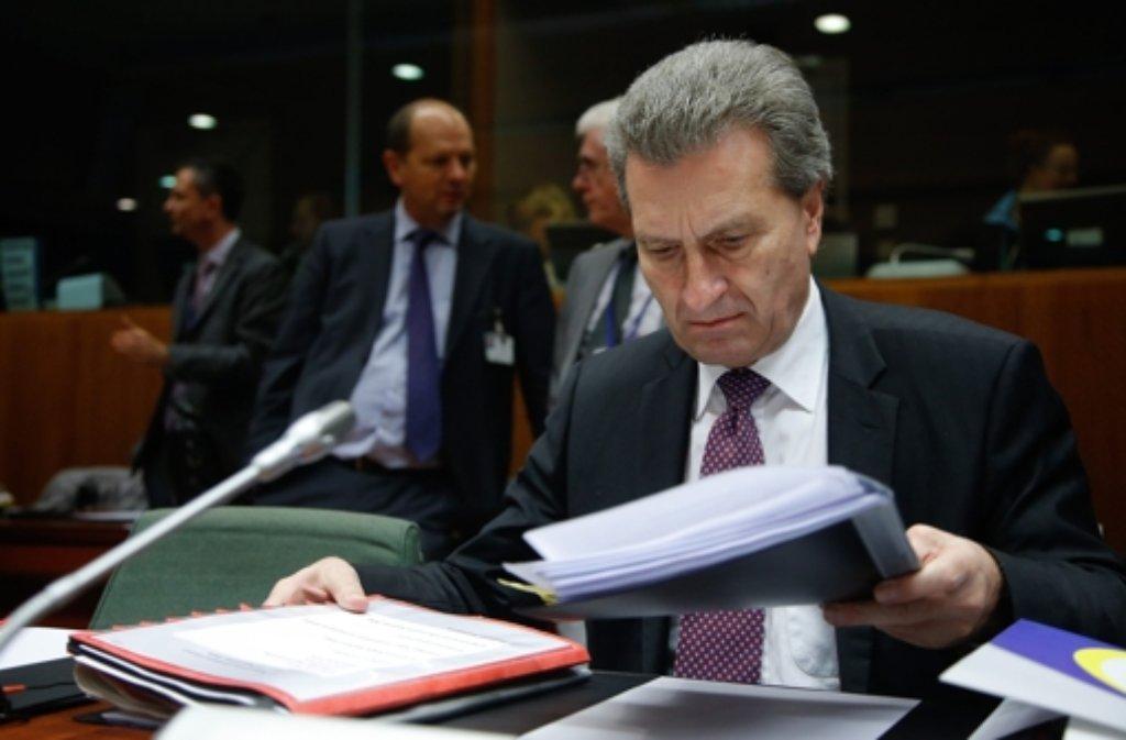EU-Kommissar Günther Oettinger (CDU) Foto: dpa