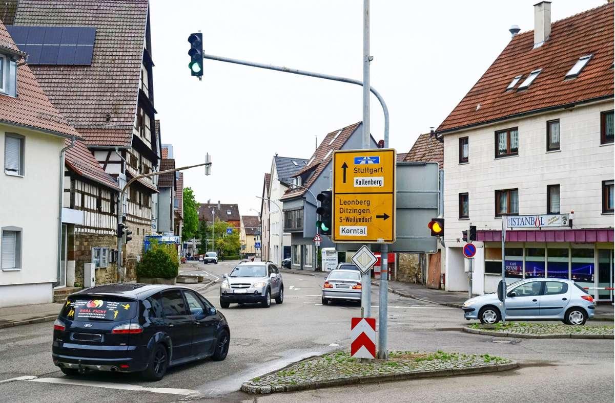 Die Stuttgarter Straße wird saniert. Im Fokus ist bei der Neugestaltung auch der Stiegelplatz. Foto: Simon Granville