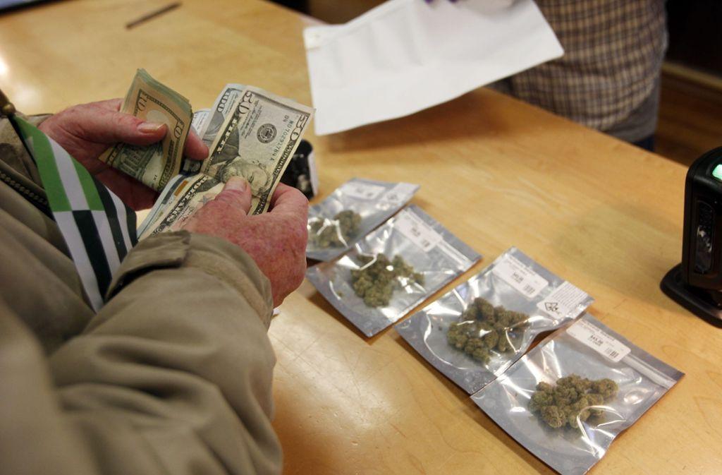 Auf Bundesebene ist Gras in den USA nach wie vor illegal. Foto: AP