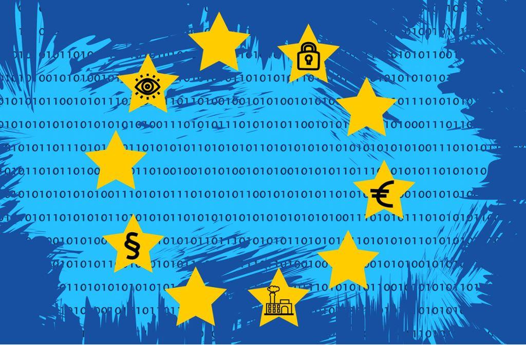Der EU-Datenschutz wirkt sich nicht nur auf die Firmen im Land aus: Die Verbraucher erhalten eine bessere Kontrolle über ihre Daten.    Illustration: Kijak Foto: