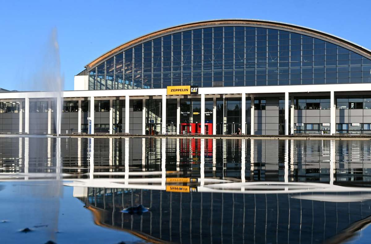Die Messehalle A1 in Friedrichshafen. Foto: dpa/Felix Kästle