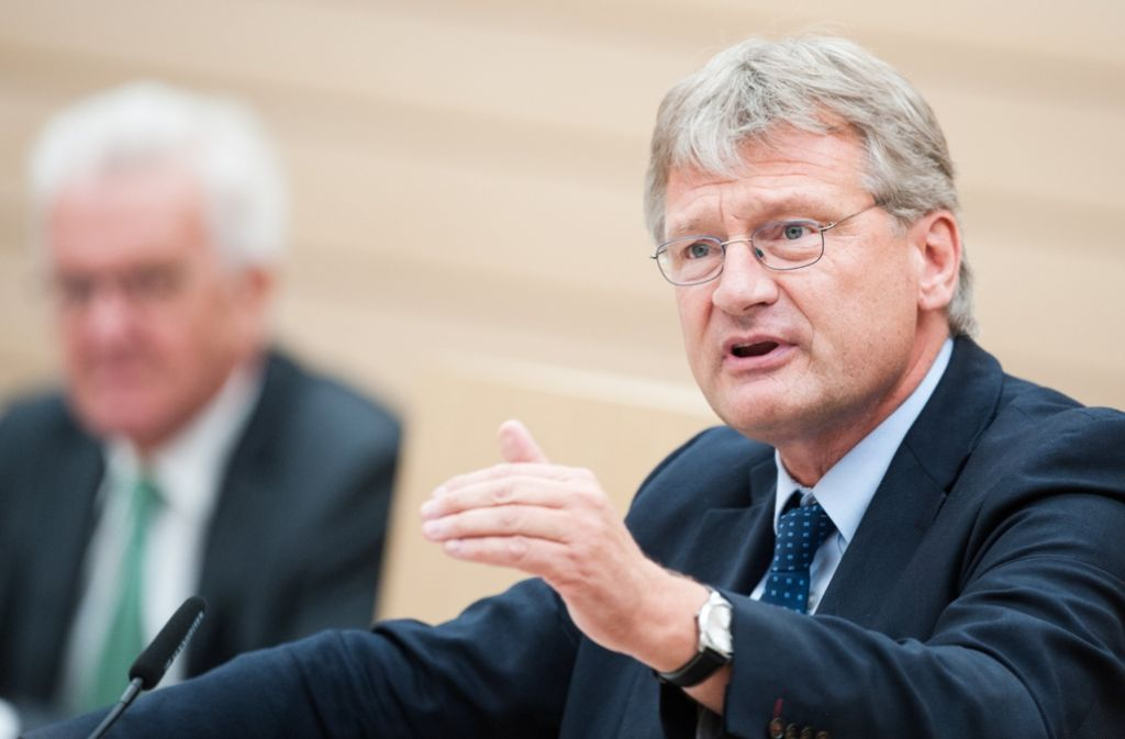 Unter Druck: Jörg Meuthen, ABW-Fraktionschef im Landtag. Foto: dpa