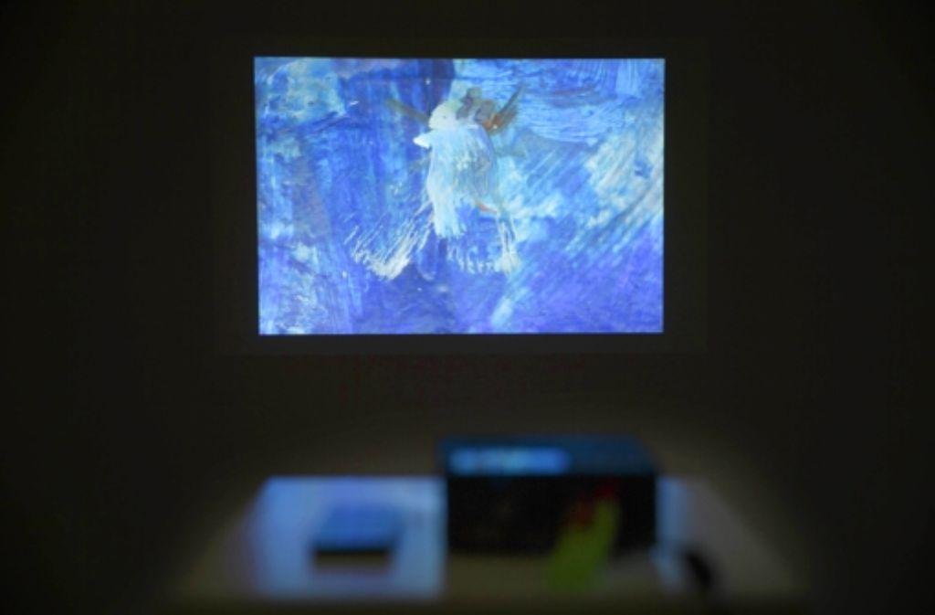 Videogemälde in der Galerie der Stadt Backnang auf dem Stiftshof Foto: Stoppel
