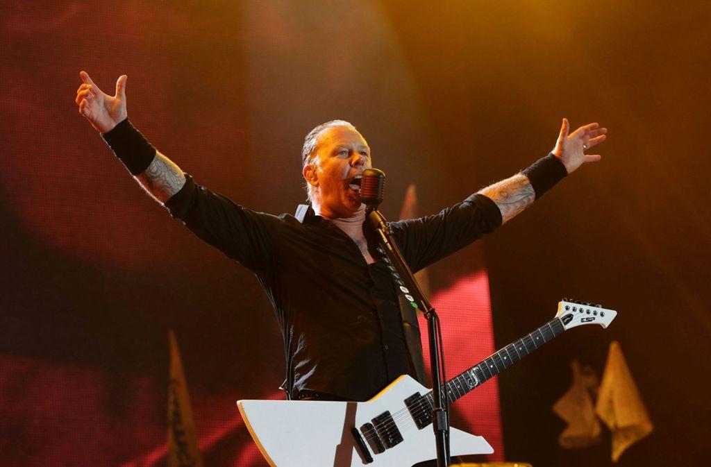 Die Musiker um Gitarrist James Hetfield möchten nun ins Whiskey Geschäft einsteigen. Foto: PA Wire