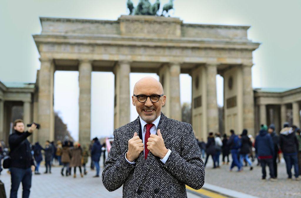 Der  Moderator Stephan Pregizer, der als stolzer Schwabe in Berlin lebt, erlitt nach einer verschleppten Erkältung einen Herzinfarkt. Foto: Rausch
