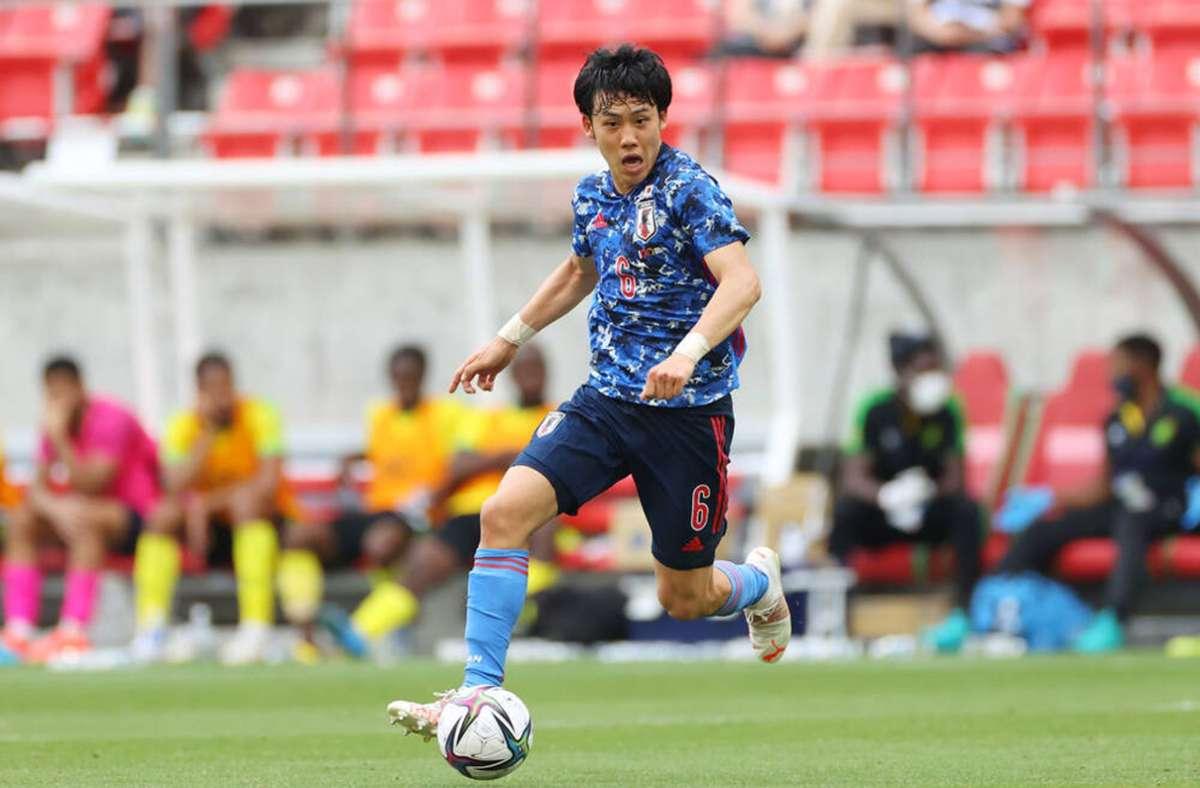 Im Dress der Blauen Samurei bei Olympia: Wataru Endo. Foto: imago/Aflosport Yutaka/e
