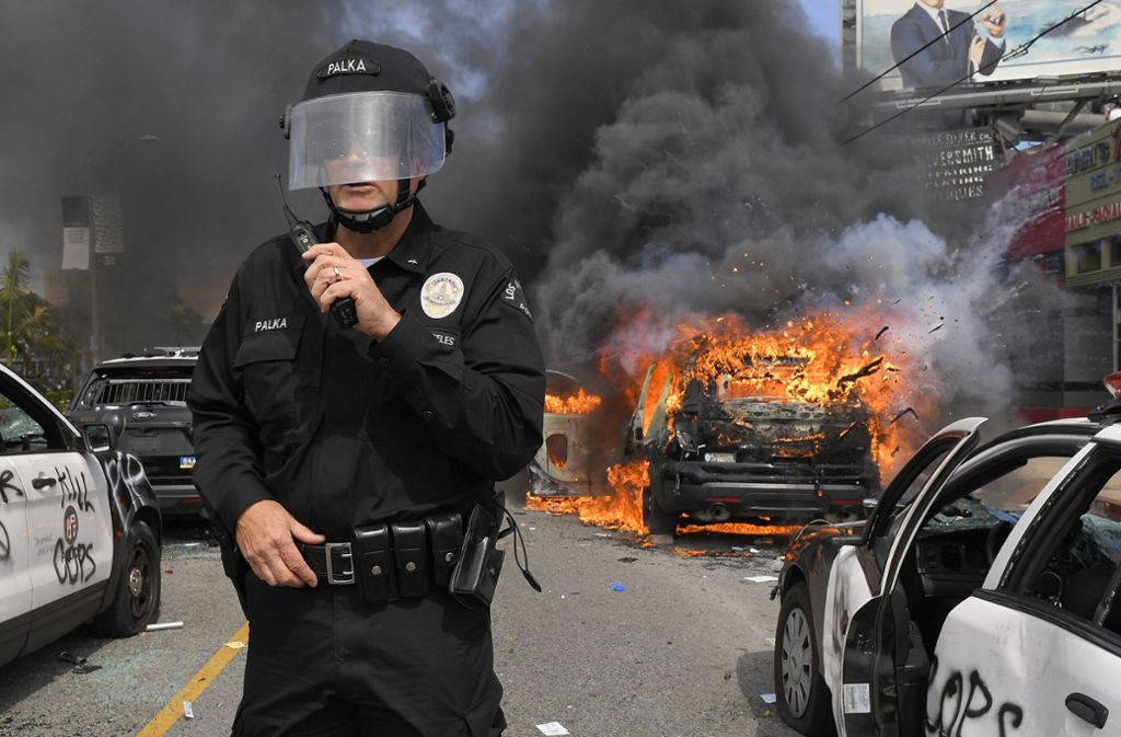 In Los Angeles ist es zu massiven Unruhen gekommen. Foto: dpa/Mark J. Terrill