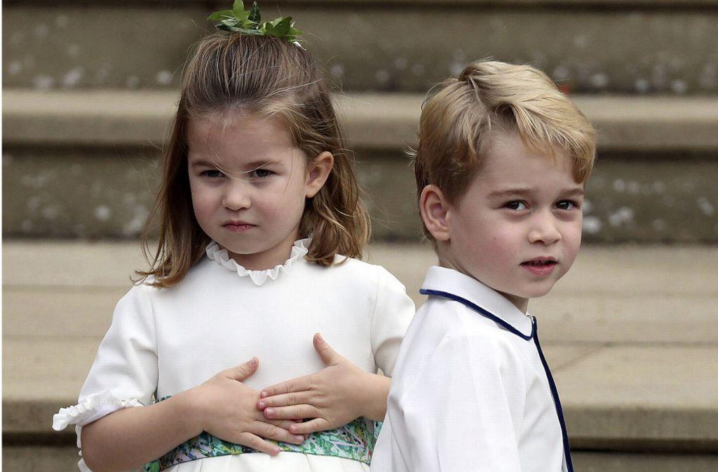 Zwei der drei berühmten Sprösslinge aus dem Hause Windsor: Prinzessin Charlotte (4) und Prinz George (5) zählen wohl zu den bekanntesten Kindern der Welt. Ihr kleiner Bruder Louis (1) auch. Foto: dpa