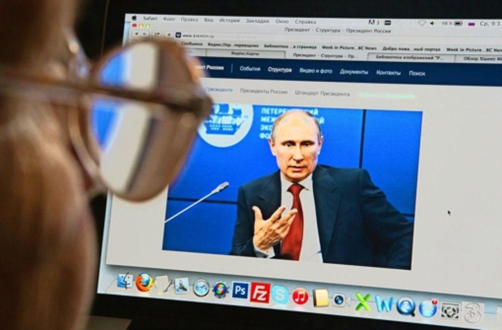Nicht alle  positiven Kommentare zu Präsident Putin entstehen aus echter Euphorie. Foto: dpa