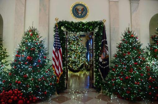 Melania Trump zeigt auf Twitter ihre Weihnachtsdeko