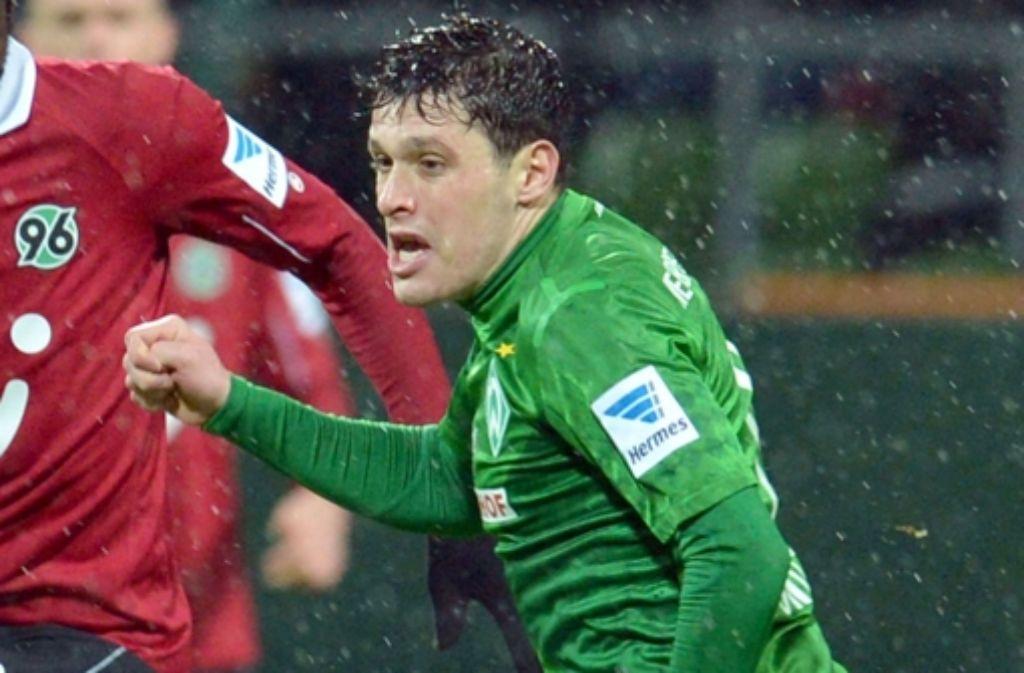 Spielt Fußball und mag Gelato: Werders Zlatko Junuzovic. Foto: dpa