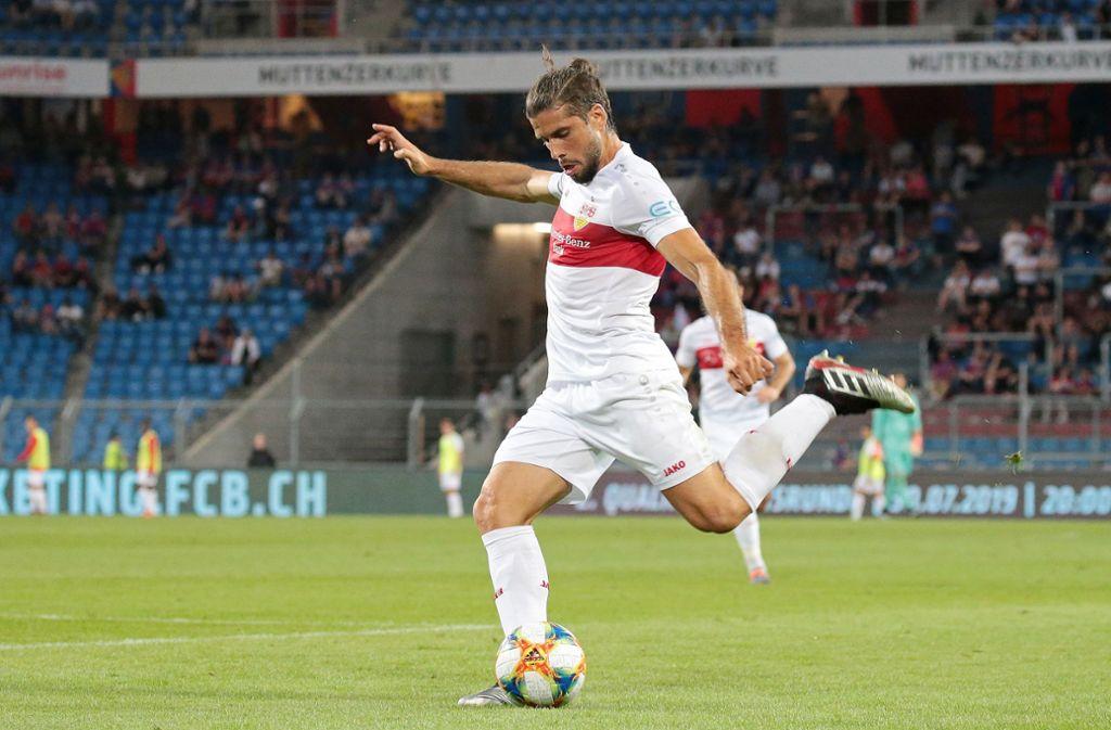 VfB-Verteidiger Emiliano Insua zeigte ein starkes Spiel gegen den FC Basel. Foto: Pressefoto Baumann