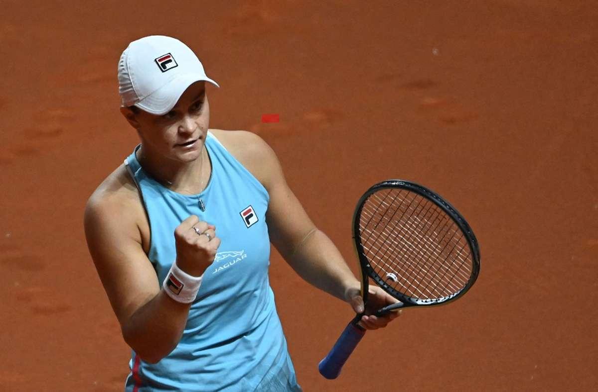 Ashleigh Barty zog ins Halbfinale ein. Foto: AFP/MARIJAN MURAT