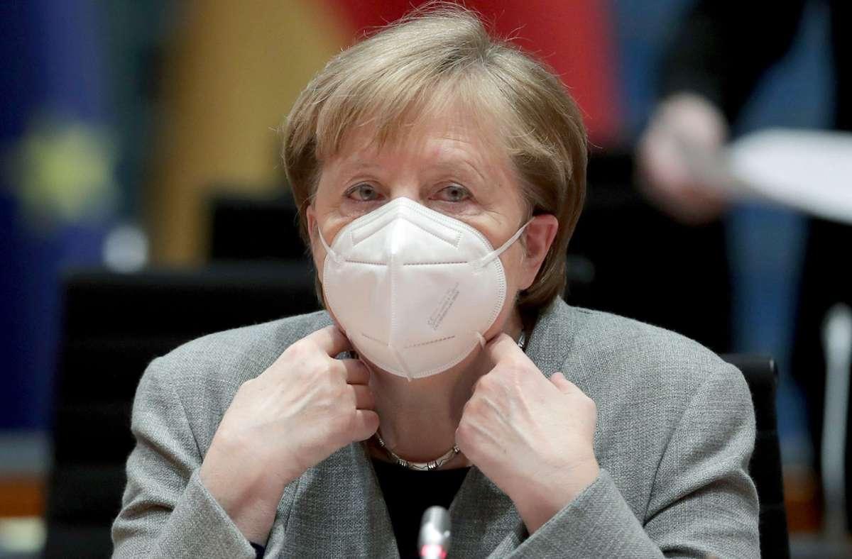 Bundeskanzlerin Angela Merkel verhandelt mit den Länderchefs über die Verlängerung des Lockdowns in Deutschland. (Archivbild) Foto: dpa/Michael Sohn