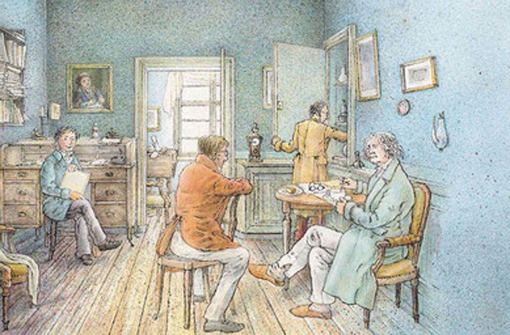 Beethoven beim Planen der Uraufführung seiner Neunten Foto: Maren Briswalter