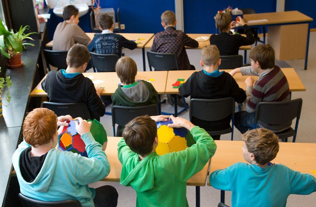 Mathematik-Unterricht in einer Ganztagsschule. Foto: dpa